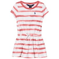 Ralph Lauren Pink Stripe Jersey Dress with Gathered Waist 002