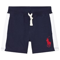 Ralph Lauren Navy and White Stripe Sweat Shorts 001