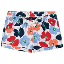 Lands End Multi Crimson Dawn Flowers Pattern Short Multi