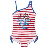 Lands End Multi Graphic Princess Of the Seaside Stripes Baddräkt Multi