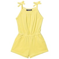 Lands End Yellow Pineapple Bliss Knit Smocked Romper Yellow