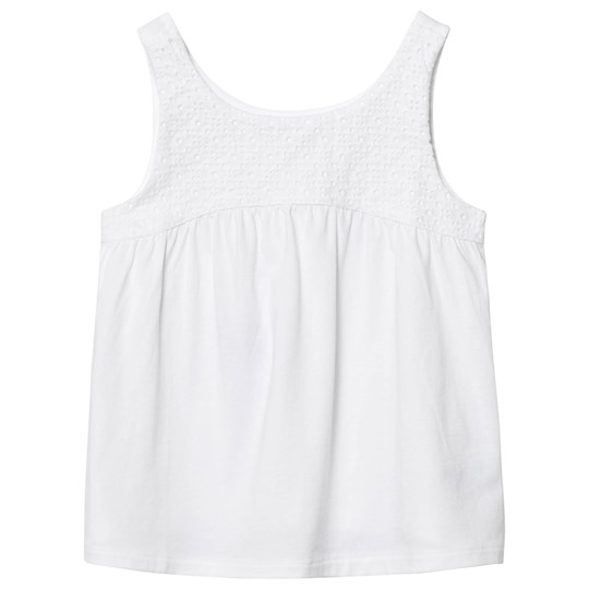 Lands' End White Novelty Tank Top White