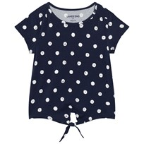 Lands End Navy Tie Front Top MIDNIGHT NAVY-WHITE DOT