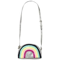 Lands End Silver Rainbow Sparkle Bag GLITTER RAINBOW