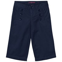 Lands End Cropped Sailor Byxor Marinblå Midnight Navy