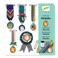 Djeco Sewing Brooches Kit пестрый