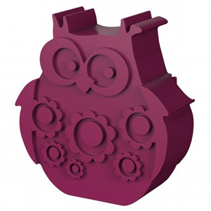 Image of Blafre Lunch Box with 2 Compartments Owl Shaped Plum Red (2743758077)