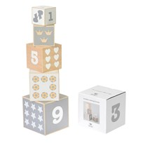 BamBam Wooden Nesting Blocks White