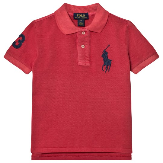 Ralph Lauren Red Big Pony Pique Polo 005