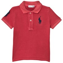 Ralph Lauren Cotton Mesh Polo Shirt Red 005