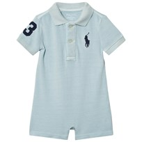 Ralph Lauren Cotton Mesh Polo Shortall Pale Blue 001
