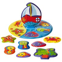Playgro Floaty Boat Bath Puzzle White