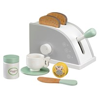Kids Concept Toy Toaster Set White/Grey Valkoinen