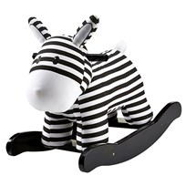 Kids Concept Rocking Horse Black/White Black