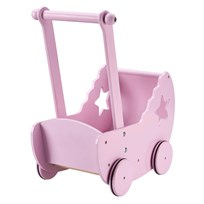 Kids Concept Star Doll Pram With Bed Pink White