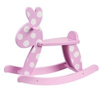 Kids Concept Rocking Rabbit Pink Lyserød