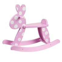 Kids Concept Rocking Rabbit Pink Pinkki