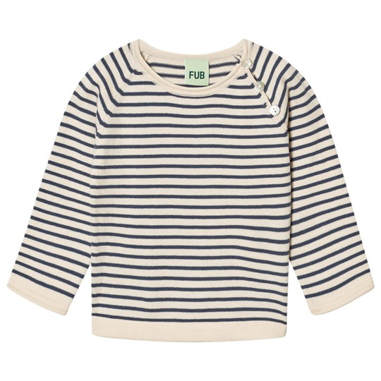 FUB Baby Striped Blouse Ecru/Denim ecru/denim