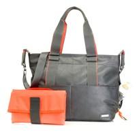 Storksak Eden Bag Grey Musta