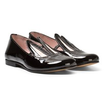 Minna Parikka Black Patent Leather Bunny Ears Loafers BLACK PATENT