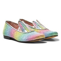 Minna Parikka Multi Glitter Bunny Ear Loafers RAINBOW GLITTER
