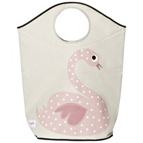 3 Sprouts Swan Laundry Hamper Multi