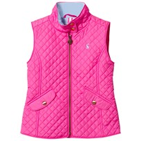 Joules Pink Quilted Gilet NEON PINK ROSE