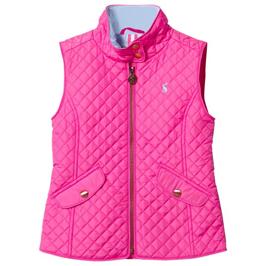 Tom Joule Pink Quilted Gilet NEON PINK ROSE