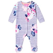 Joules Navy Floral Stripe Babygrow CHALK POSEY STRIPE
