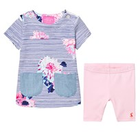 Joules Navy Stripe and Floral Tunic and Leggings Set CHALK POSEY STRIPE