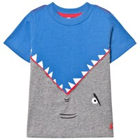 Joules Blue Shark Back and Front Applique Tee BLUE SHARK ATTACK