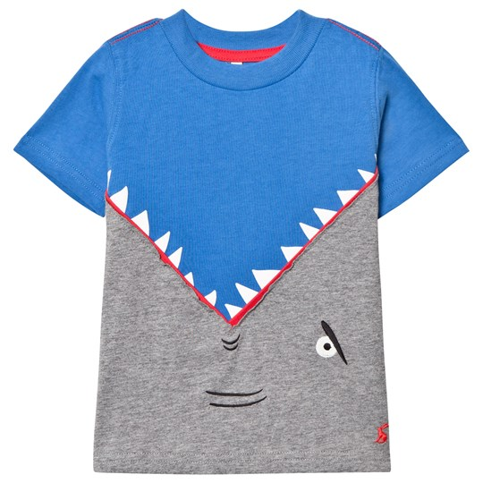 Tom Joule Blue Shark Back and Front Applique Tee BLUE SHARK ATTACK