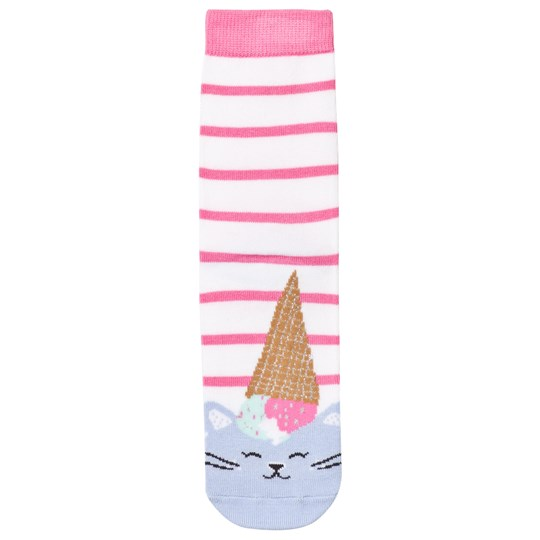 Tom Joule Pink Cat Ice Cream Socks Cats