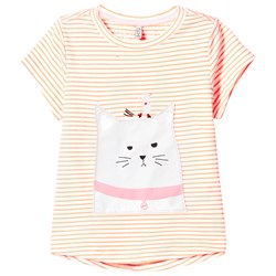 Tom Joule Orange Stripe Cat and Mouse Applique Tee