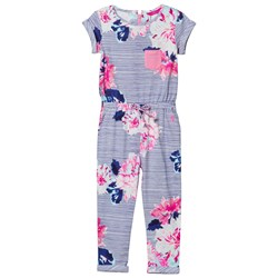 Joules Navy and Floral Jersey Jumpsuit