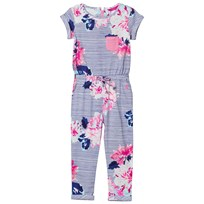 Joules Navy and Floral Jersey Jumpsuit CHALK POSEY STRIPE