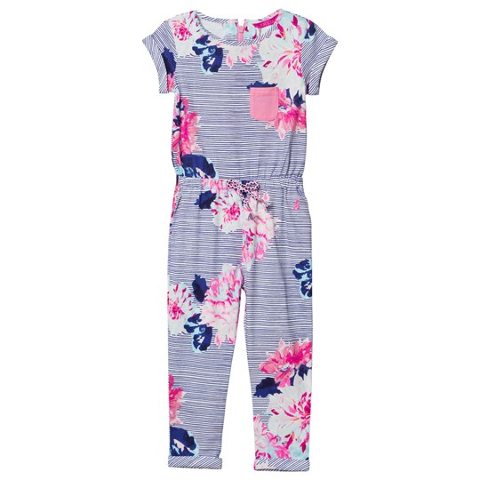 Tom Joule Navy and Floral Jersey Jumpsuit CHALK POSEY STRIPE