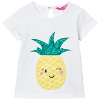 Joules White Pineapple Print Tee CHALK PINEAPPLE
