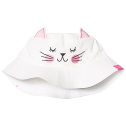 Joules White Cat Face Hat