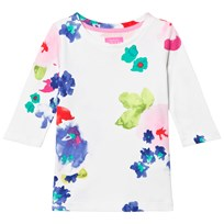 Joules White and Floral Jersey Top OCEAN BLOOM