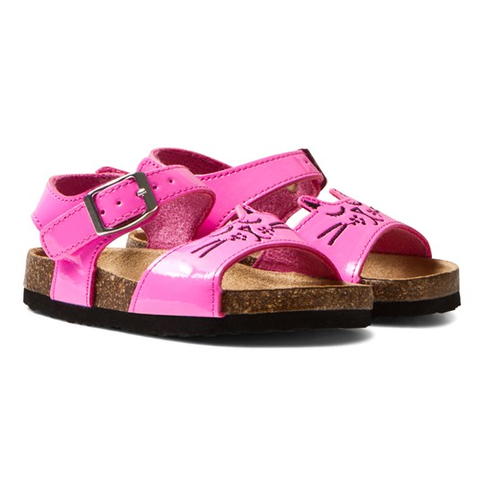 Tom Joule Pink Patent Cat Sandals NEON PINK ROSE