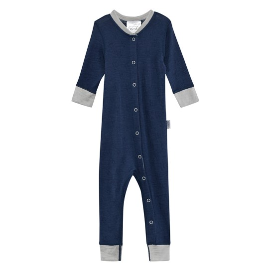 Voksi Wool/Silk Night Wear Jumpsuit Petrol Petrol