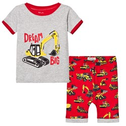 Hatley Grey Trucks Applique Short Pyjamas