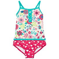 Hatley Cream Flower Print Swimsuit Cream