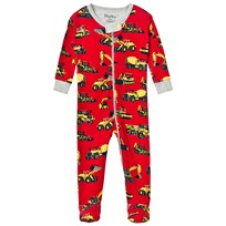 Hatley Red Diggers Print Babygrow Red