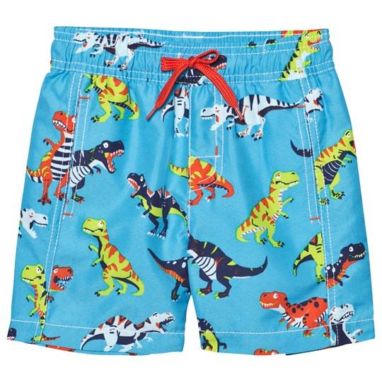 Hatley Blue Dinosaur Print Swim Shorts Blue
