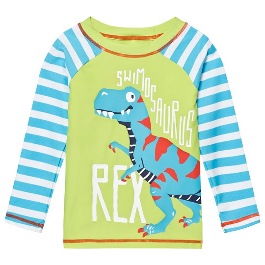 Hatley Green and Blue Dinosaur Rash Top Blue