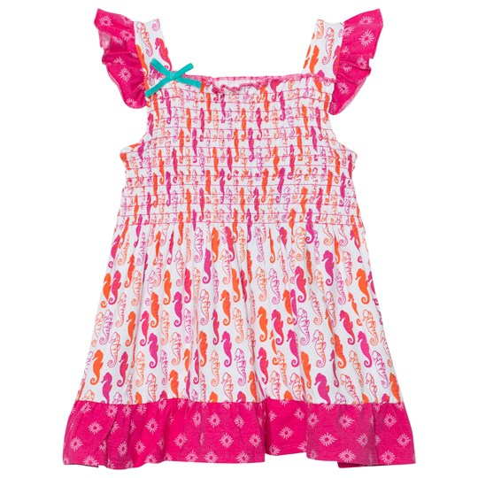 Hatley Pink Seahorse Smocked Cotton Dress Pink