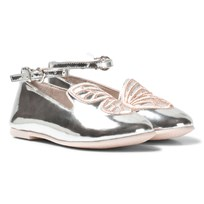 Sophia Webster Mini Bibi Butterfly Mini White Rose Gold Pumps Black & Rose Gold
