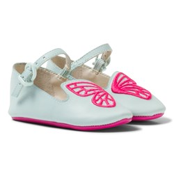 Sophia Webster Mini Bibi Butterfly Baby Spearmint Pink Pumps